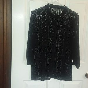 liz claiborne Black Lace Cardigan